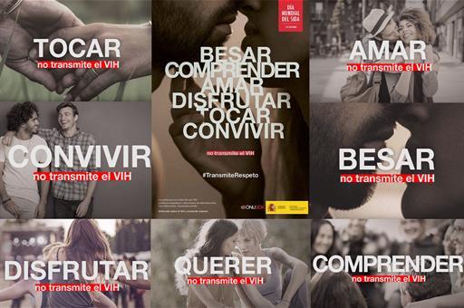 Salud Salud Sanidad lanza la campaña Besar, comprender, amar, disfrutar, tocar, convivir no transmite el VIH. #TransmiteRespeto
