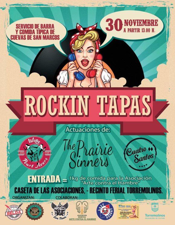 Torremolinos Torremolinos Música y gastronomía se dan la mano este sábado en el evento solidario 'Rockin Tapas' de Torremolinos