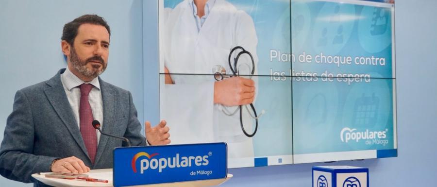Salud Salud El PP valora que la lista de espera baje en Málaga casi un 50% gracias al plan de choque