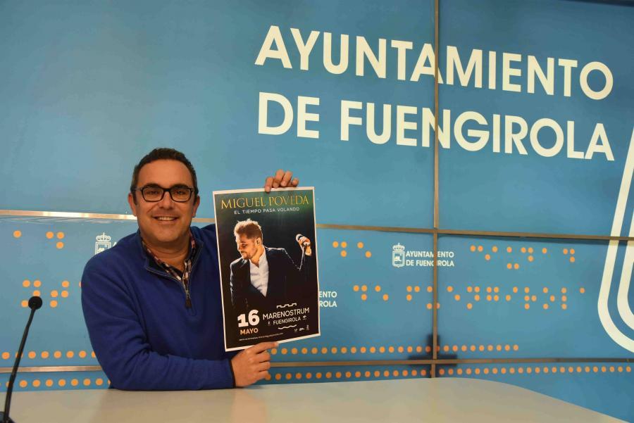 Ayuntamientos Ayuntamientos Hoy salen a la venta las entradas del concierto que Miguel Poveda ofrecerá en Fuengirola el próximo 16 de mayo