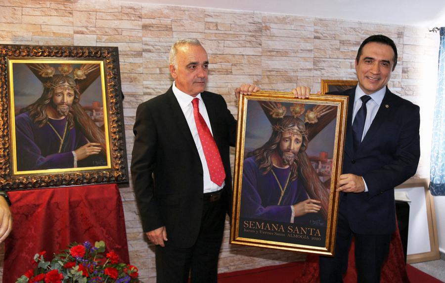 Cultura Cultura El pintor Antonio Montiel arrasa con su cartel de la Semana Santa de Almogía