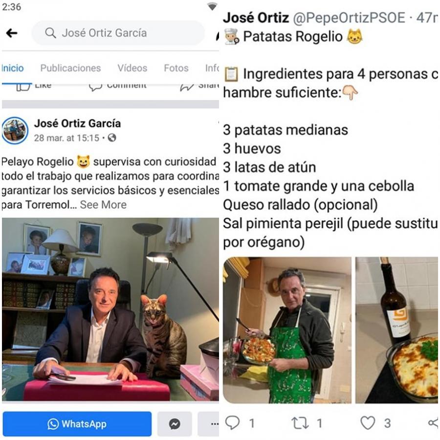 """Torremolinos Torremolinos Las """"Ortizadas"""" y postureos del alcalde de Torremolinos en plena crisis sanitaria: Un gato supervisor, una receta de pastel de patatas y un lamentable incidente en el Carrefour"""