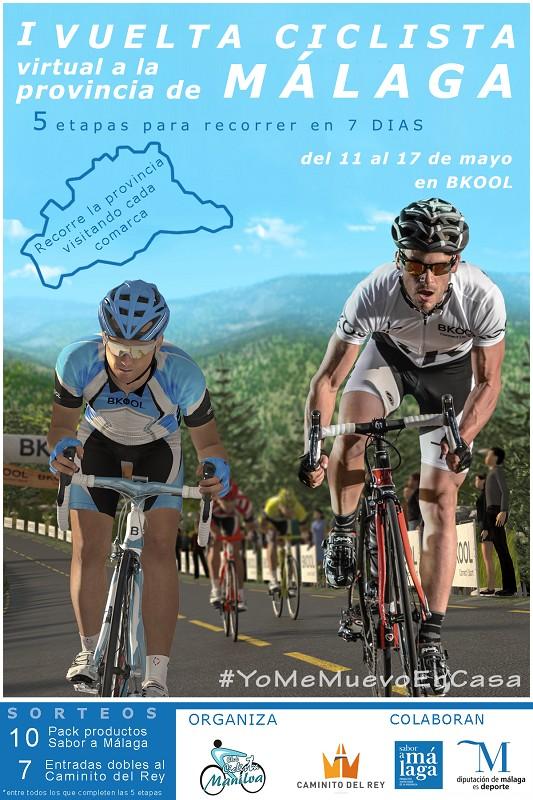 Deportes Deportes Nace la I Vuelta Ciclista Virtual a la Provincia de Málaga con el apoyo de la Diputación
