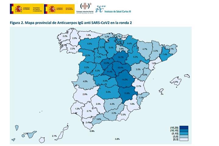 España España La inmunidad de la población española experimenta un leve incremento con una tasa del 5,21% en la segunda ronda del ENE-Covid19