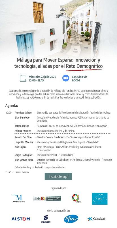 Málaga Málaga La Diputación impulsa el primer foro nacional que sitúa la innovación y la tecnología como claves contra la despoblación