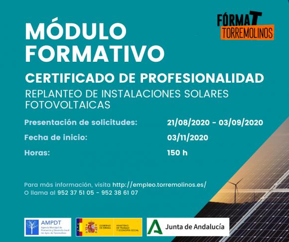 Torremolinos Torremolinos Abierto el plazo de inscripción para cuatro cursos de formación profesional para el empleo en Torremolinos