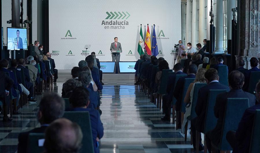 """Andalucía Andalucía Moreno presenta el plan """"Andalucía en Marcha"""" que activará 3.450 millones de euros para impulsar la economía y generar empleo"""