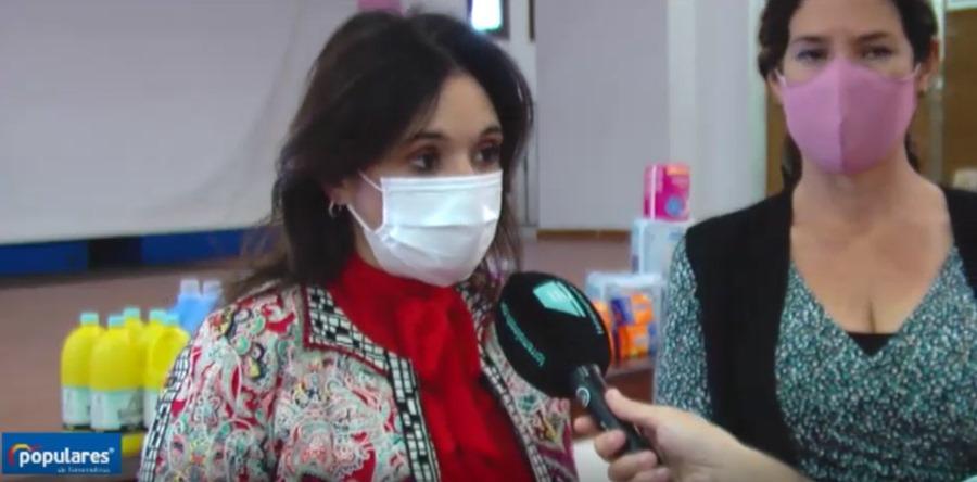 """Torremolinos Torremolinos Marga del Cid: """"Hoy ponemos en marcha el almacén solidario de productos de higiene y aseo personal y de limpieza para ayudar a las personas más vulnerables de Torremolinos afectados por la crisis de la Covid-19"""""""