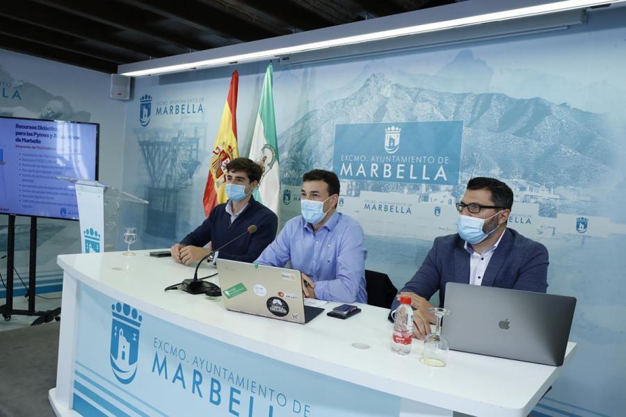 Ayuntamientos Ayuntamientos El Ayuntamiento de Marbella pondrá a disposición de pymes y autónomos una serie de recursos para potenciar sus competencias digitales y el teletrabajo