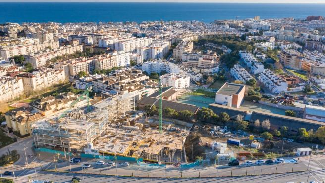 Ayuntamientos Ayuntamientos Las obras de la promoción de 100 VPO en Estepona avanzan a buen ritmo y estarán finalizadas en mayo de 2022