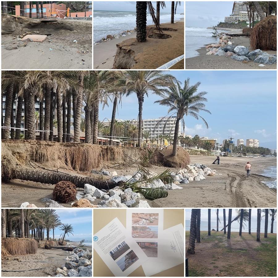 """Torremolinos Torremolinos El PP critica que los oasis en las playas del litoral de Torremolinos estén """"abandonados y corran riesgo de desaparecer"""" por falta de mantenimiento"""