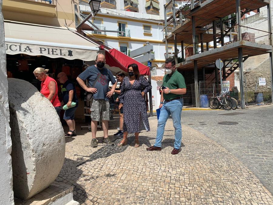 Torremolinos Torremolinos Margarita del Cid alerta del peligro de caídas en la Cuesta del Tajo y la calle Peligro del Bajondillo