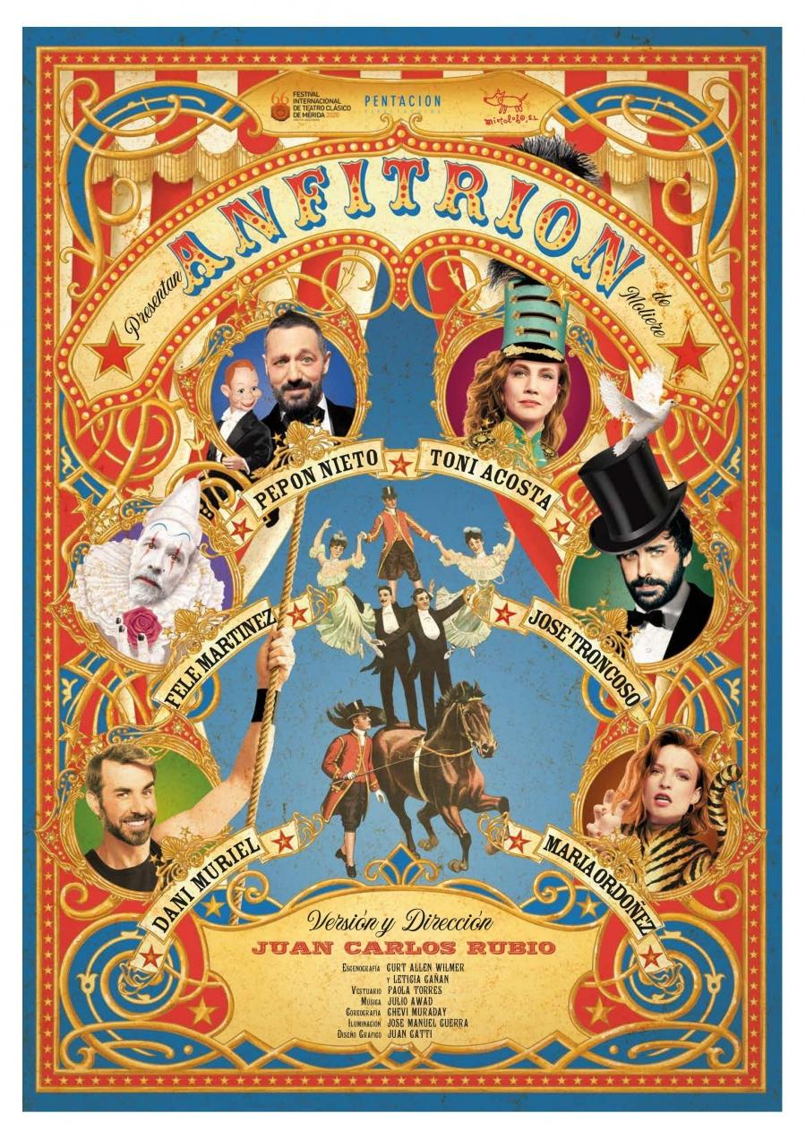 Cultura Cultura El Teatro Ciudad de Marbella albergará el sábado 25 de septiembre 'Anfitrión', una versión adaptada de la obra de Moliére con Pepón Nieto, Toni Acosta y Fele Martínez como protagonistas