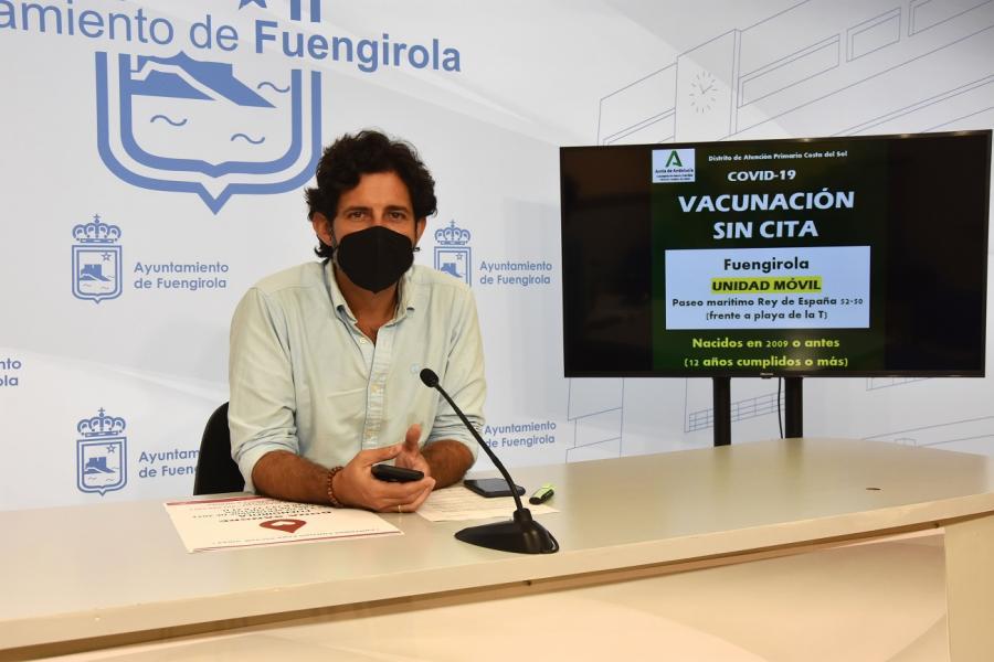 Ayuntamientos Ayuntamientos Fuengirola acogerá el viernes una unidad móvil para vacunar contra la COVID-19 a personas de más de doce años