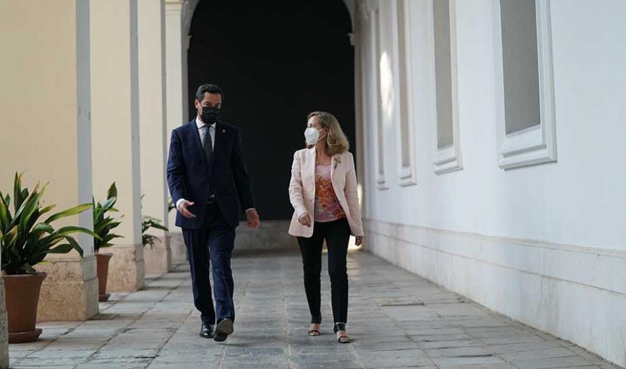 Andalucía Andalucía Moreno pide a Calviño aplicar la cogobernanza para distribuir los fondos europeos entre las autonomías