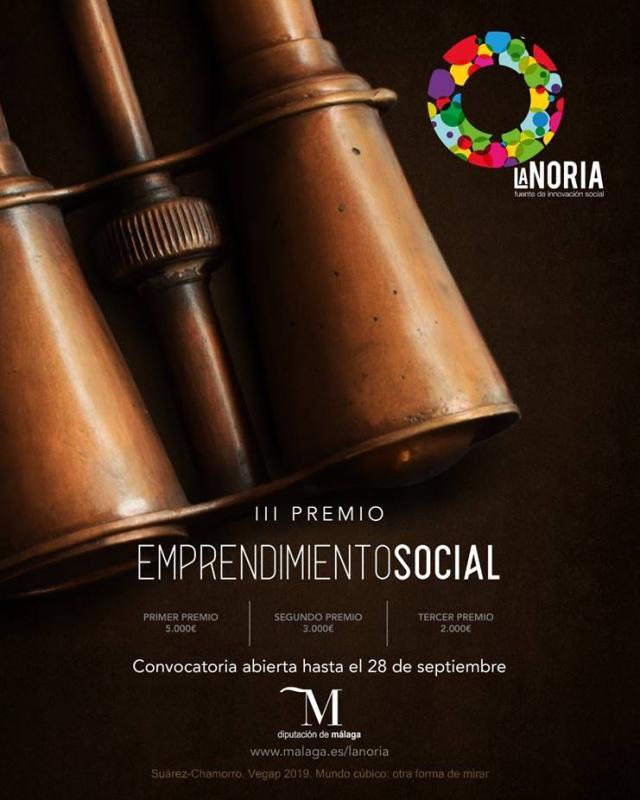 Málaga Málaga Abierto hasta el 28 de septiembre el plazo para participar en el tercer Premio de Emprendimiento Social La Noria